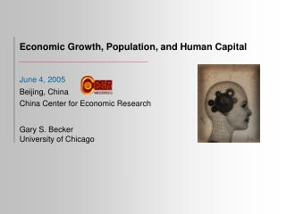 Economic Growth, Population, and Human Capital