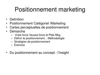 Positionnement marketing