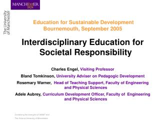 Education for Sustainable Development Bournemouth, September 2005
