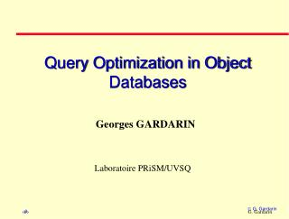 Query Optimization in Object Databases