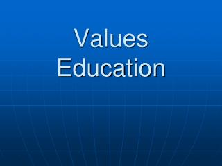 Values Education