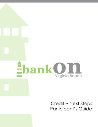 Credit ~ Next Steps Participant's Guide