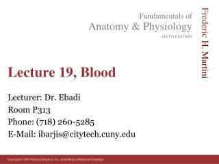 Lecture 19, Blood