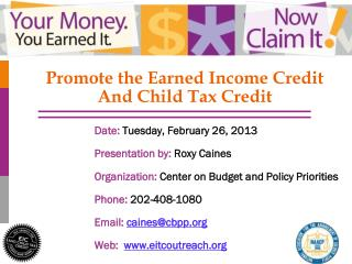 Promote the Earned Income Credit  And Child Tax Credit