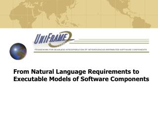 From Natural Language Requirements to Executable Models of Software Components