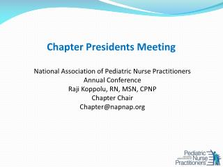 Chapter Presidents Meeting
