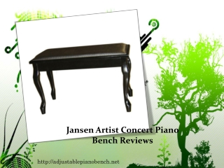 Jansen Artist Concert Piano Bench Reviews