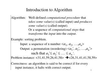 Introduction to Algorithm