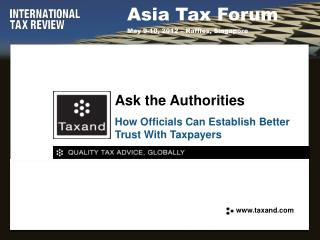 How Officials Can Establish Better Trust With Taxpayers