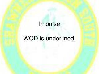 Impulse WOD is underlined.