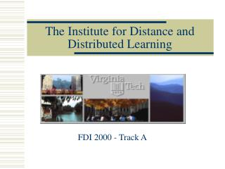 The Institute for Distance and Distributed Learning
