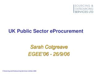 UK Public Sector eProcurement