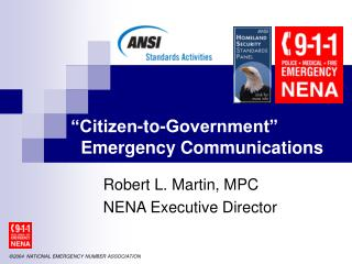 """Citizen-to-Government""   Emergency Communications"
