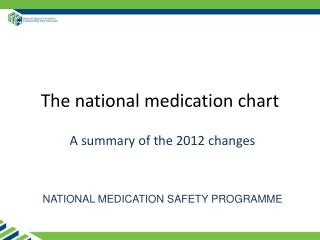 The national medication chart