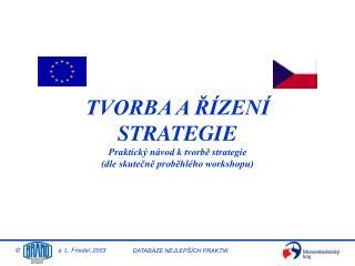 TVORBA A ŘÍZENÍ STRATEGIE Praktický návod k tvorbě strategie  (dle skutečně proběhlého workshopu)