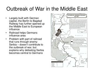 Outbreak of War in the Middle East