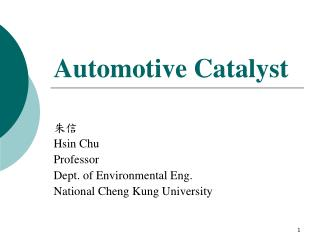 Automotive Catalyst