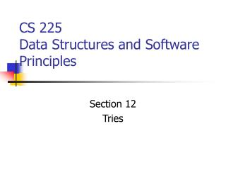 CS 225 Data Structures and Software Principles