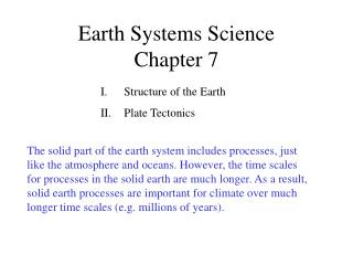 Earth Systems Science Chapter 7
