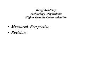 Banff Academy Technology Department Higher Graphic Communication