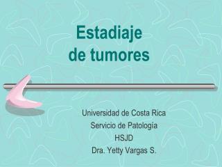 Estadiaje de tumores
