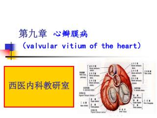第九章   心瓣膜病 ( valvular vitium of the heart )