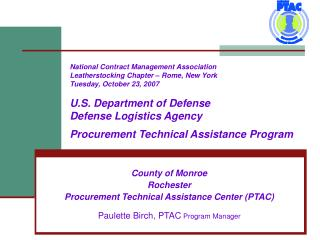 County of Monroe  Rochester  Procurement Technical Assistance Center (PTAC)