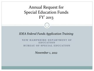 New Hampshire Department of Education Bureau OF Special Education