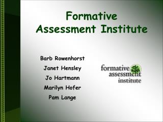 Formative  Assessment Institute