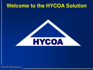 Welcome to the HYCOA Solution
