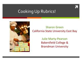 Cooking Up Rubrics!