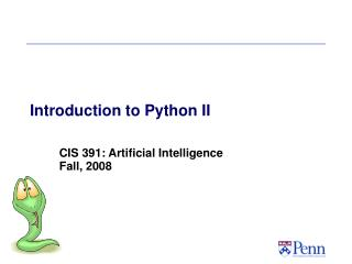 Introduction to Python II