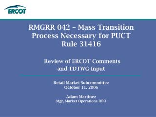 ERCOT Key Points - Introduction