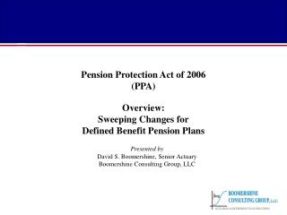 Pension Protection Act of 2006 (PPA)