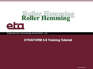 DYNAFORM 5.8 Training Tutorial