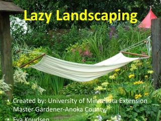 Lazy Landscaping