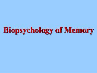 Biopsychology of Memory