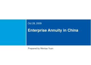 Enterprise Annuity in China