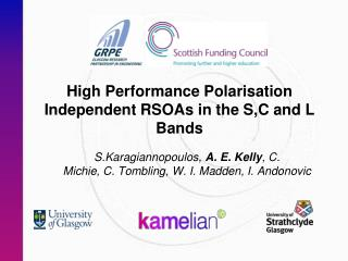 High Performance Polarisation Independent RSOAs in the S,C and L Bands