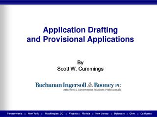 Application Drafting  and Provisional Applications By Scott W. Cummings