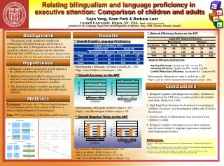 Relating bilingualism and language proficiency in