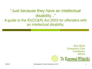 """Just because they have an intellectual disability..."""