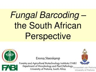 Fungal Barcoding  –  the South African Perspective