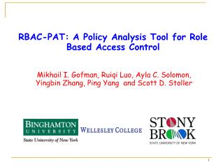 RBAC-PAT: A Policy Analysis Tool for Role Based Access Control