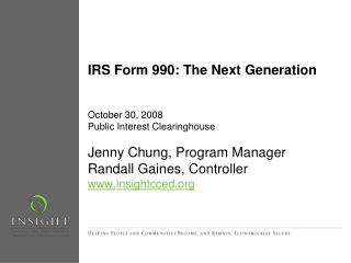 IRS Form 990: The Next Generation