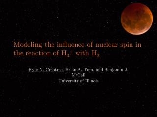 Modeling the influence of nuclear spin in the reaction of H 3 +  with H 2