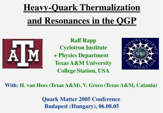Heavy-Quark Thermalization  and Resonances in the QGP
