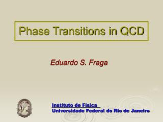 Phase Transitions in QCD