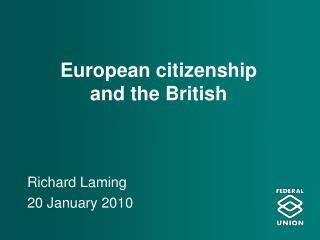 European citizenship  and the British