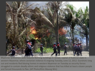 Deadly Myanmar clashes